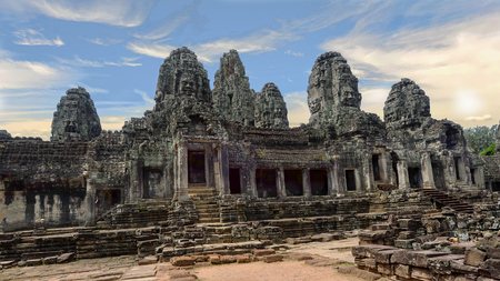 Stone faces, Angkor Wat, Siem Reap, Cambodia Reklamní fotografie