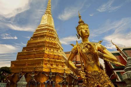 Buddha sculpture in Grand Palace Thailand