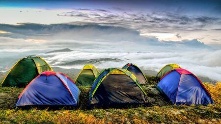 Camping morning