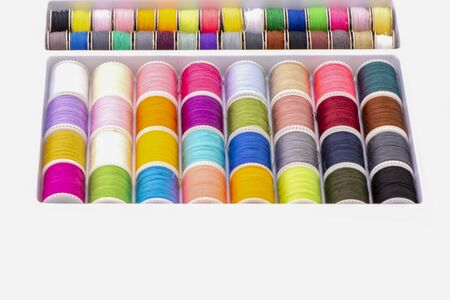 Colorful spool of threads