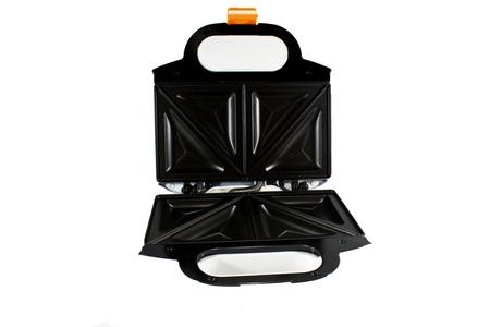 fumigador: la tostadora negro sobre fondo blanco
