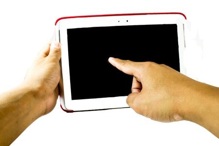 fumigador: Tablet PC Foto de archivo