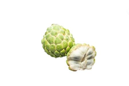 chirimoya: Flan de manzanas con fondo blanco de aislar Foto de archivo