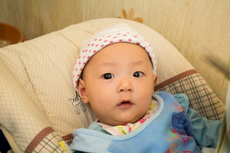 bassinet: Cute baby in Bassinet