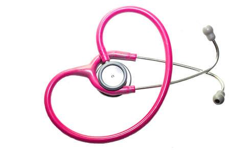 medico: Stethoscope on white background