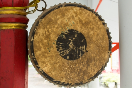 tercet: the Ancient  Drum and drumsticks