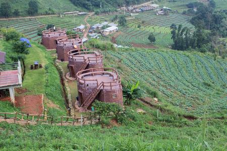relent: Beautiful resort on the mountain Stock Photo