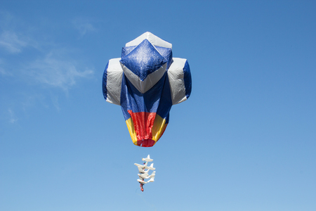 flit: hot air balloon isolated on sky