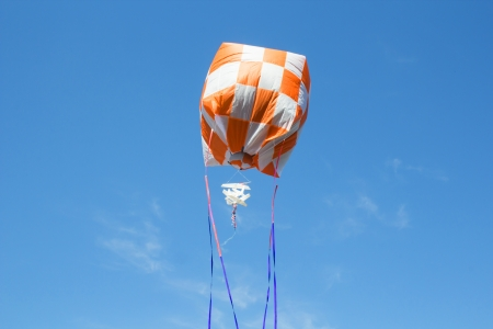 to flit: hot air balloon isolated on sky