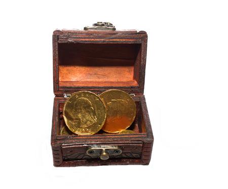 lucrative: Treasure Box   isolated  on white background