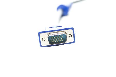 vga: Conector de cable VGA y los cables de v�deo digitales Foto de archivo