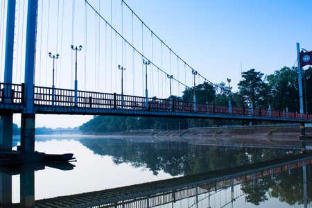 Hanging Bridge morning  photo