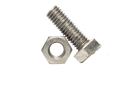 bolt and nut isolated on white