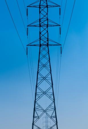 electric power station: Electric power station on blue sky