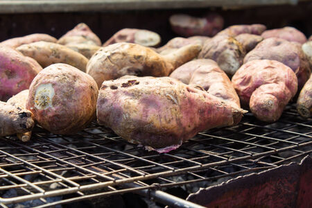 grilled potato: Grilled potato on the grill