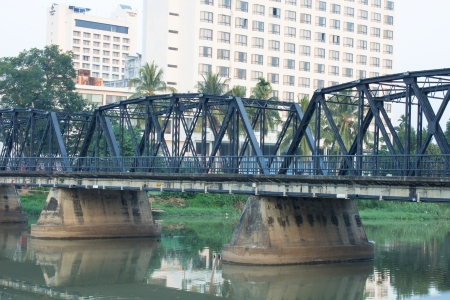 iron oxide: iron bridge on cement pillars