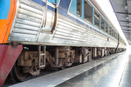 railway station: train at railway station Stock Photo
