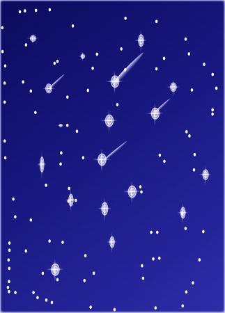 Full moon on starry night sky  Vector
