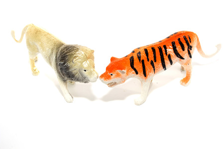 Toy animals isolate on white photo