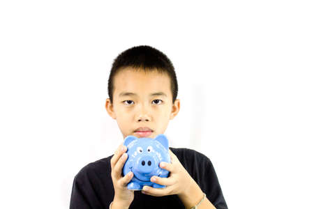 Asian boy with white background activities photo