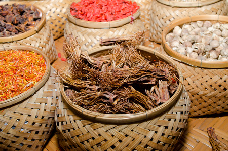 herbology: collection of spices Stock Photo