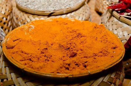 kerala culture: turmeric Stock Photo