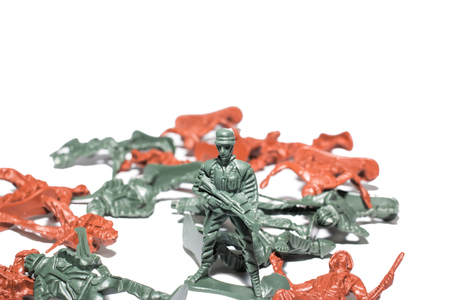green plastic soldiers: miniature toy soldiers to attack the enemy