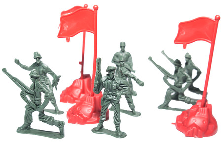 toy soldier: miniature toy soldiers to attack the enemy