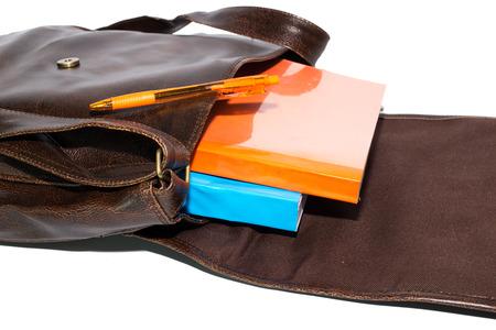 Backpack full of schoo photo