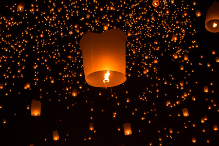 Sky lanterns, Flying Lanterns in thailand