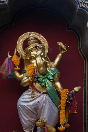 omen: Close-up of carved idol of Hindu god Ganesha - Lorf of good omen