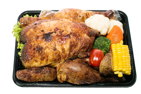 baked chicken: Baked chicken for festive dinner