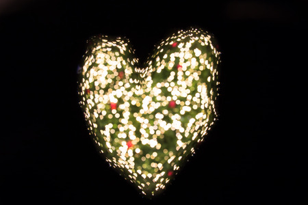 Heart bokeh photo
