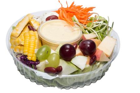 Fruit Salad isolate on white photo