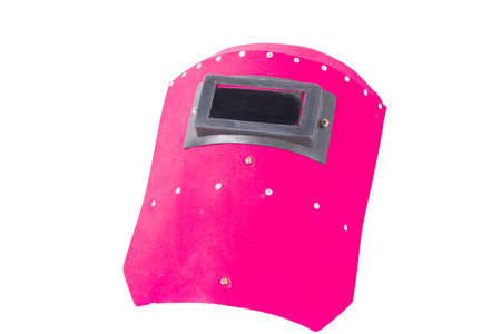 Welding mask isolate on white