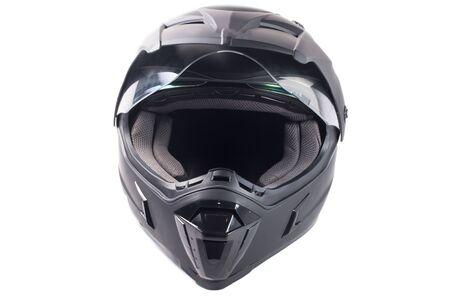 helmet moto: aislado casco de moto negro