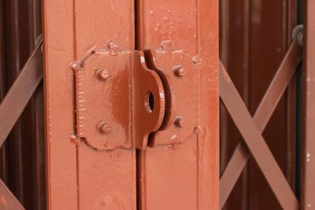 steel door: red old steel door