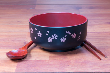 lacquer ware: Traditional tableware of Japan chopsticks and bowl