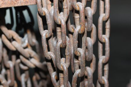 fetishes: Rusty steel chain through use
