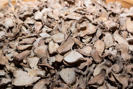 carminative: Dry ginger root Stock Photo