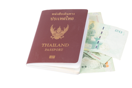 pickpocket: Tourist out of money and Thailand Passport Stock Photo