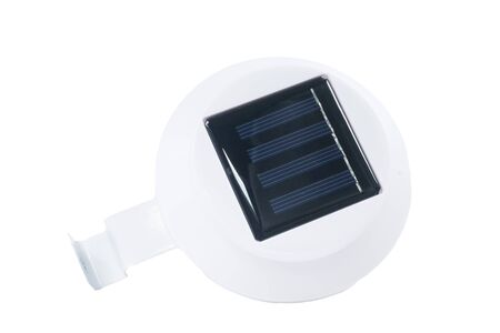 silicium: Solar panels isolate on white