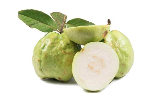 vitamine: guava on white background