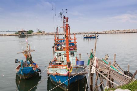 fishingboat: fishing boats under sky in harbor