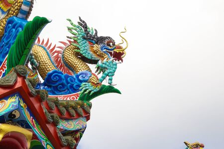 naga china: Dragon in Chinese temple Editorial