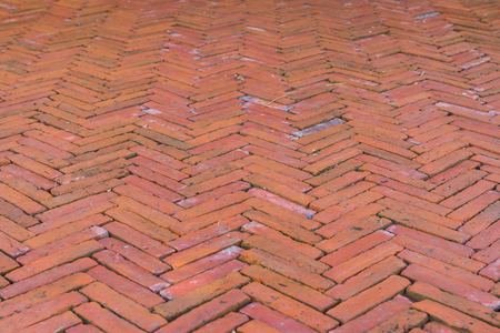 Red brick road split Stock Photo