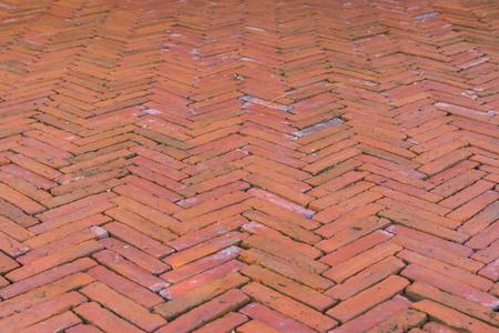Red brick road split Banque d'images