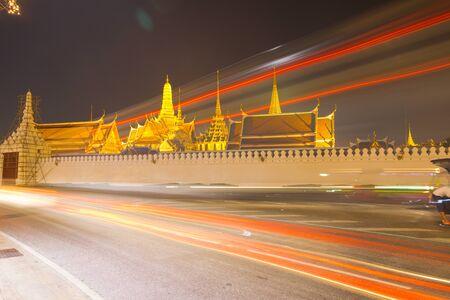 the emerald city: Temple of the Emerald Buddha, Wat Phra Kaew, Bangkok, Thailand Stock Photo
