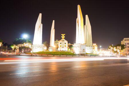 democracy Monument: Democracy Monument in Bangkok on December 20, 2015
