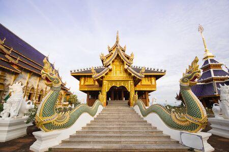 thailand temple: Wat Ban den Temple Maetang Chiangmai Thailand